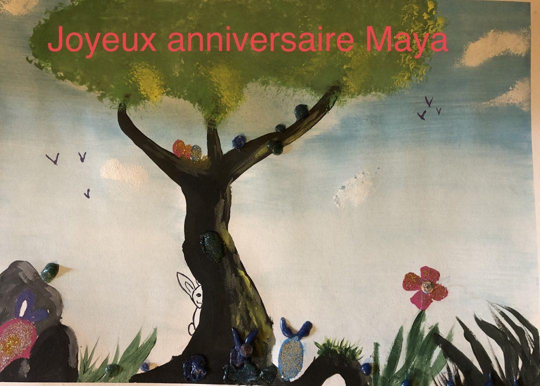Joyeux Anniversaire Maya Les Combavas Elementaire